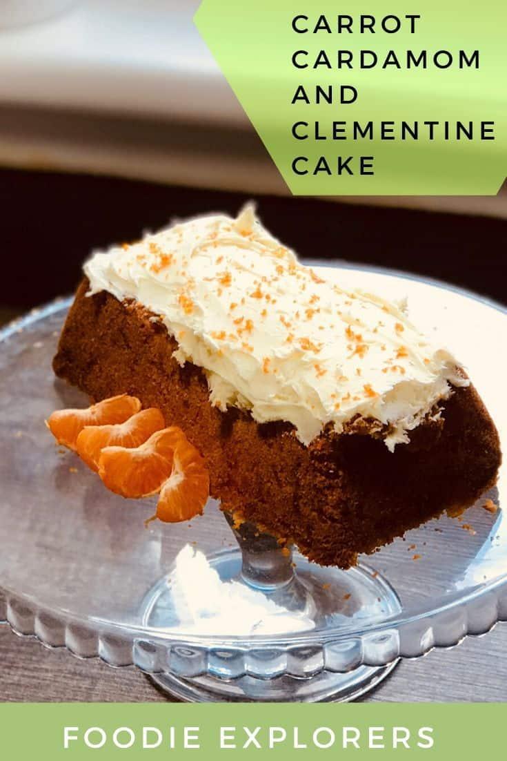 Carrot cardamom Clementine cake