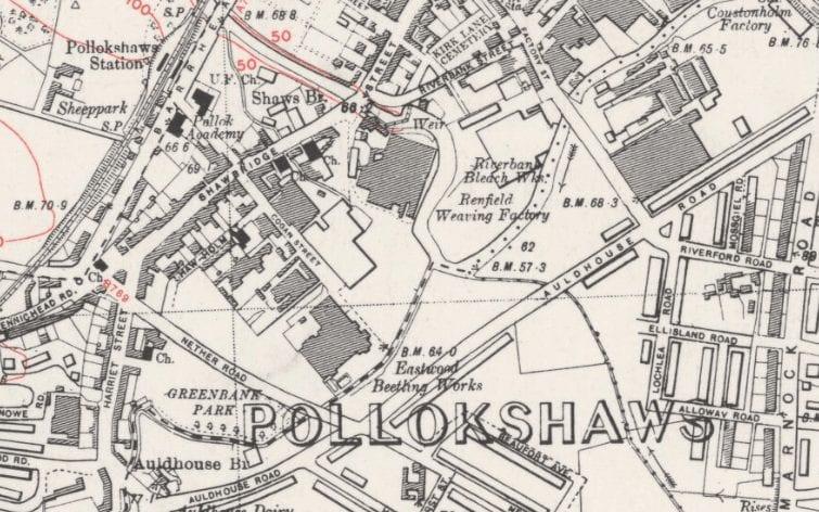 Pollokshaws map 1940s map 1940s