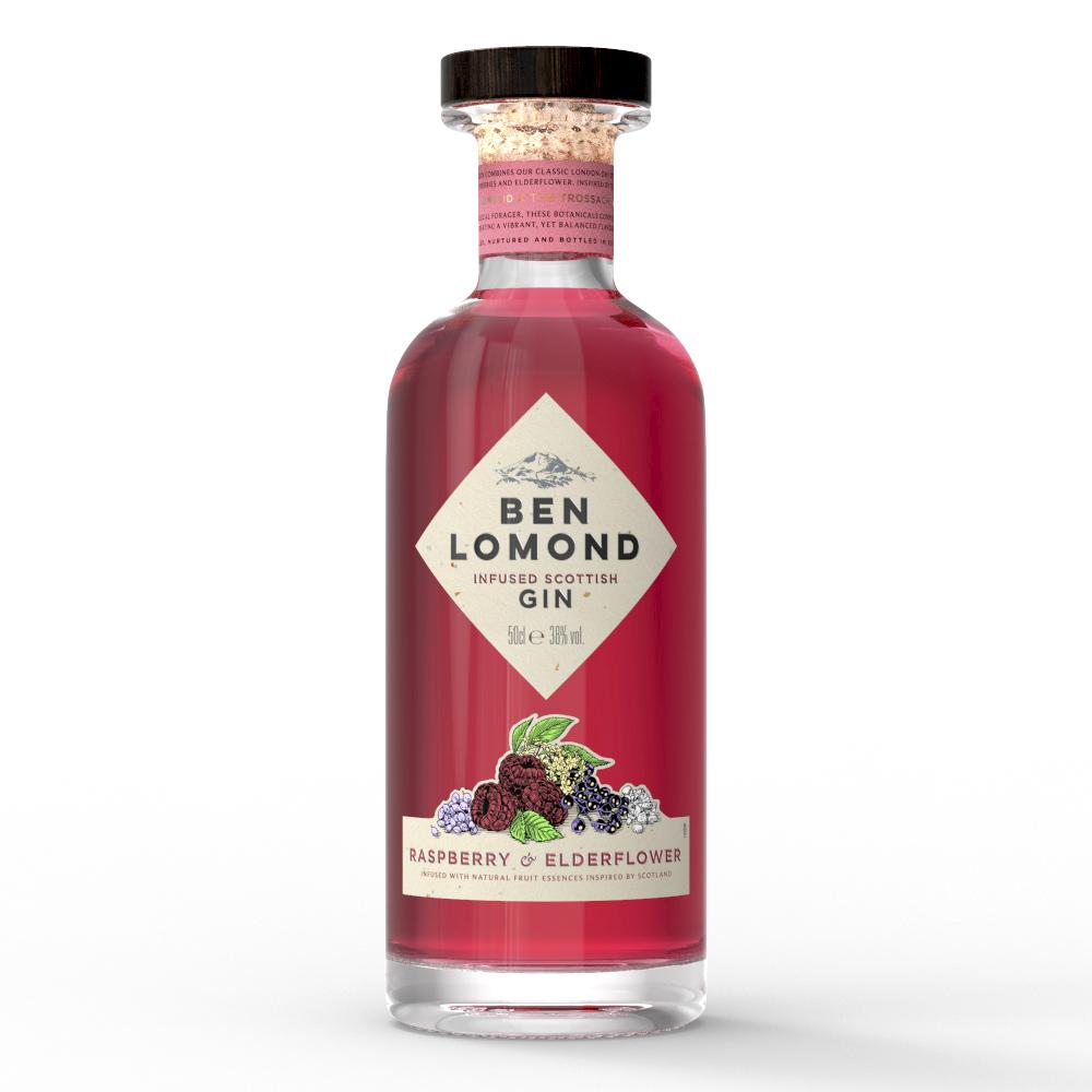 Ben Lomond Gin 50cl Raspberry & Elderflower