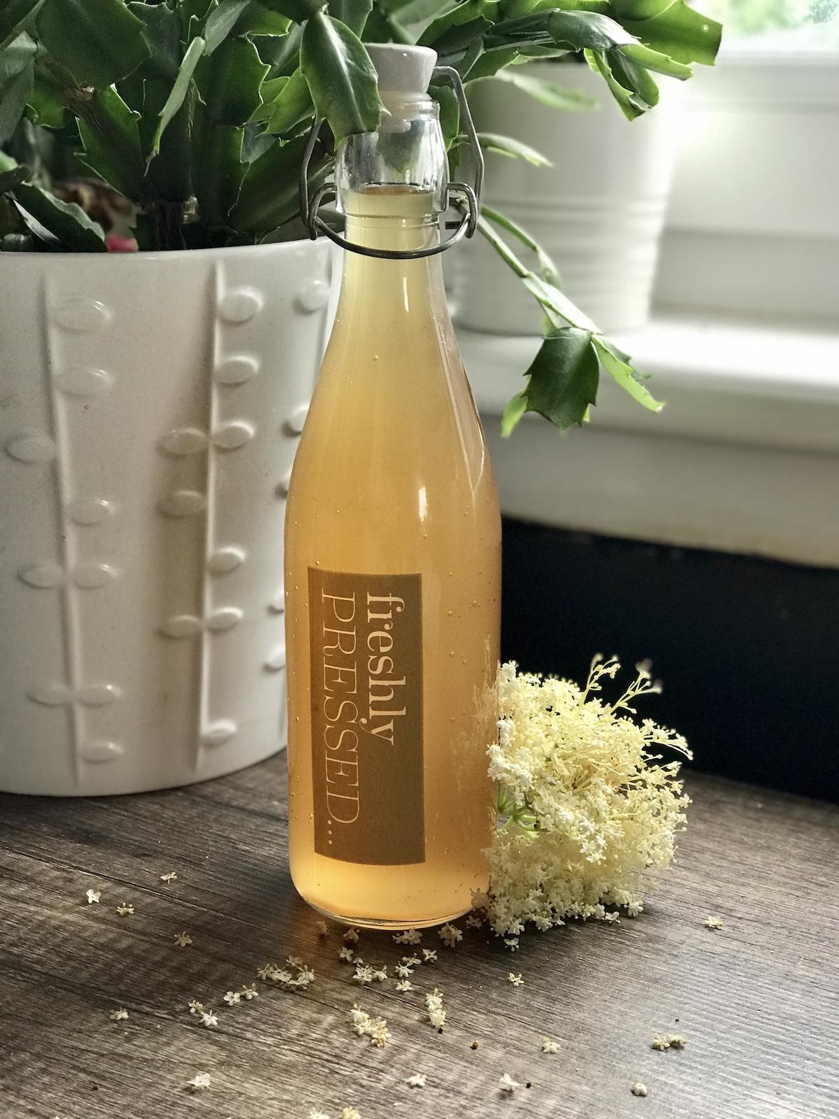 elderflower cordial bottled