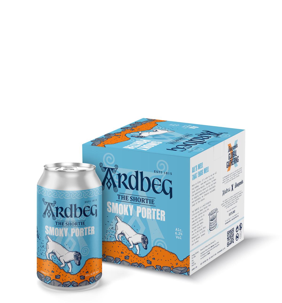 Ardbeg Smoky Porter Box And Can White LRG