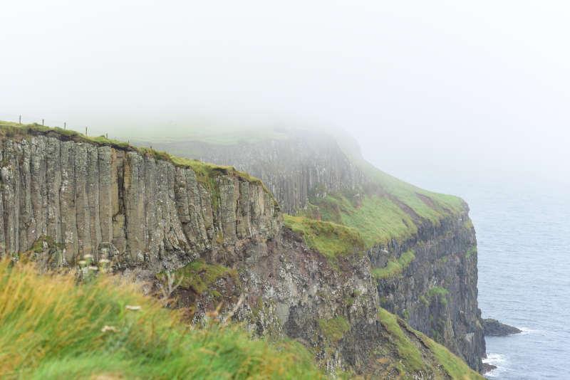 Away a wee walk - misty cliffs