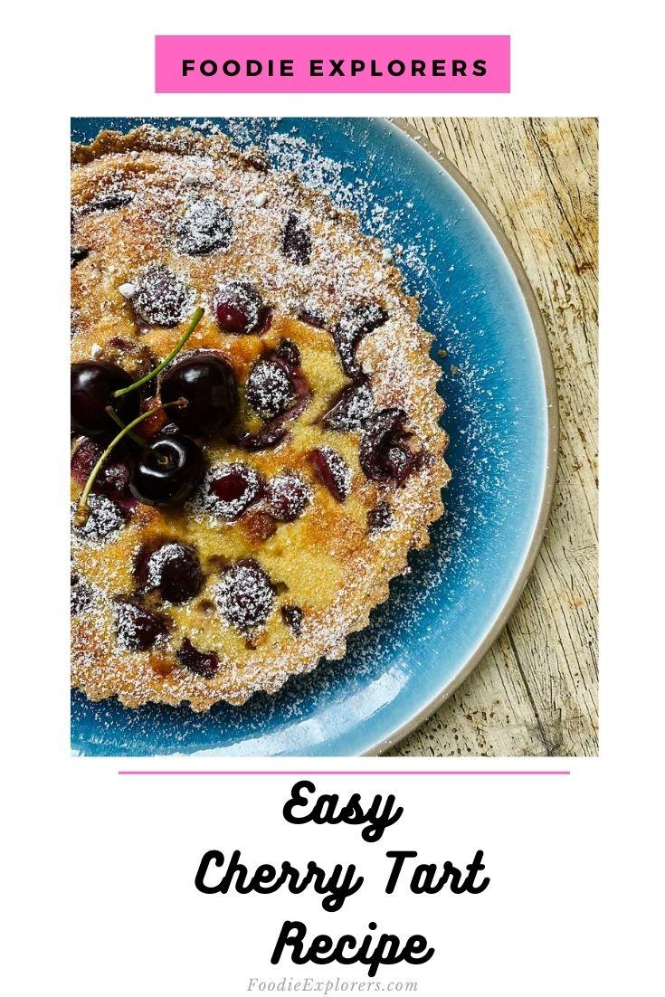 cherry tart recipe pinterest pin