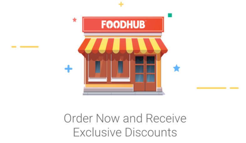 Foodhub takeaway app with 20% money off code inside
