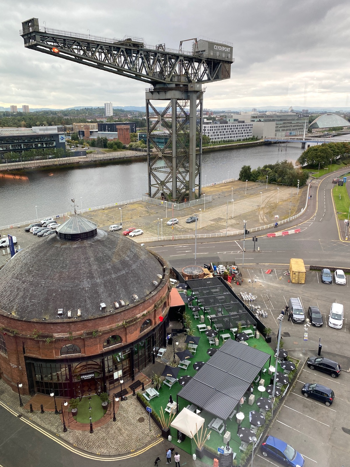 Radisson Red Glasgow view from Window
