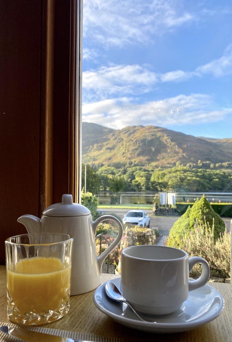achray house breakfast view