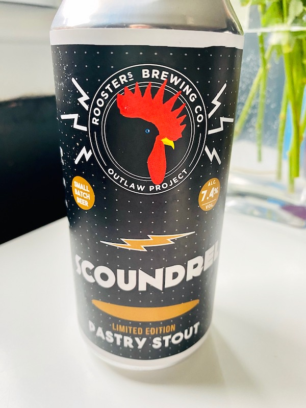 roosters brewing co Scoundrel Can