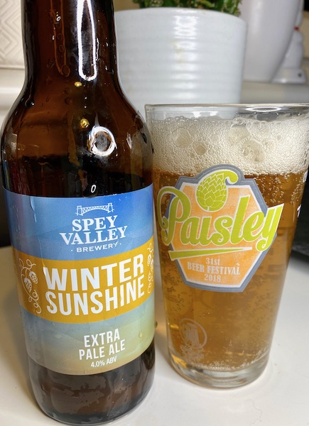 spey valley winter sunshine extra pale ale