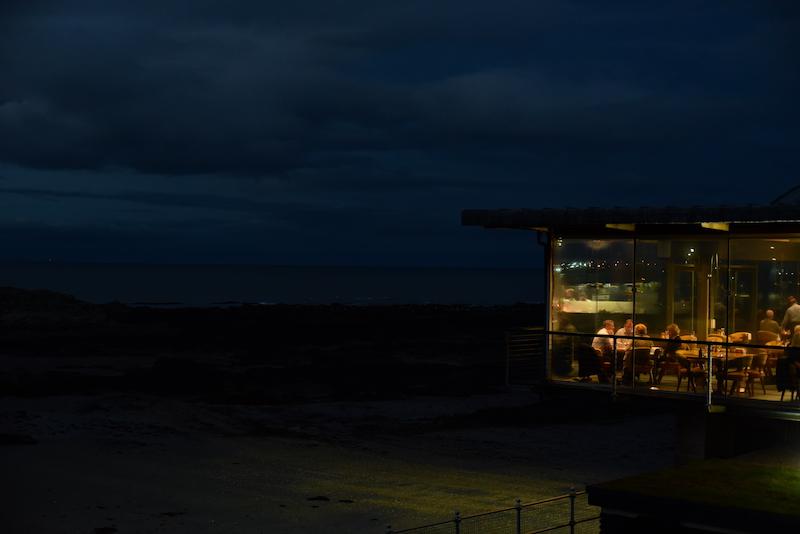 the seafood ristorante outside night