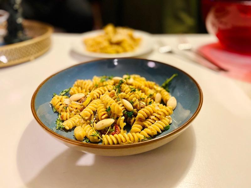 Mediterranean Pesto Fusilli close up