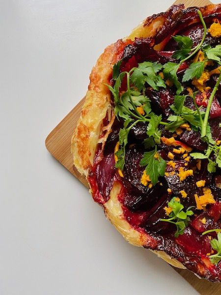 vegan beetroot tarte tartin 2