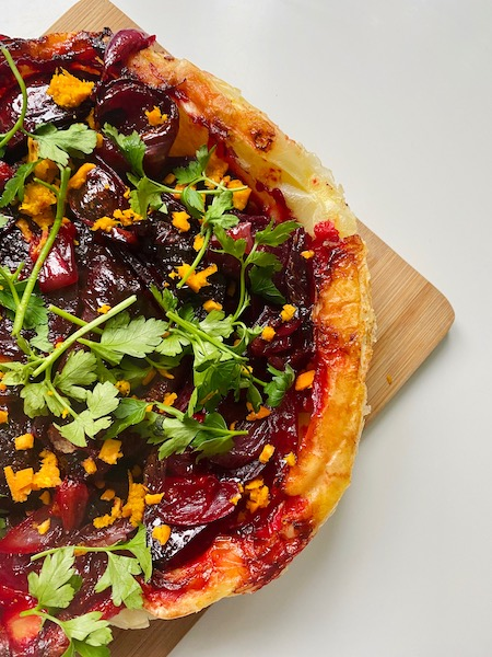 vegan beetroot tarte tartin 3