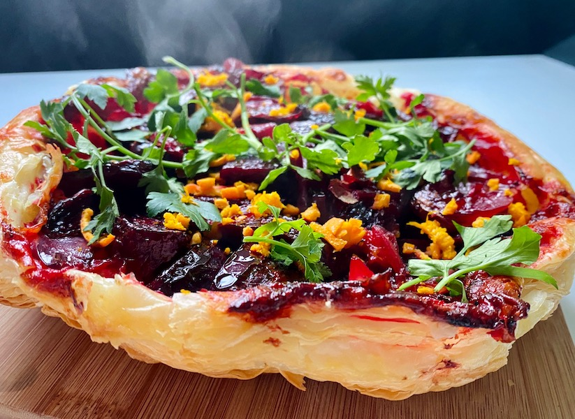 vegan beetroot tarte tartin 4