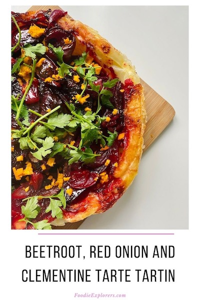 vegan beetroot tarte tartin pinterest pin