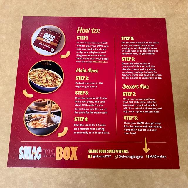 SMAC Mac and cheese box
