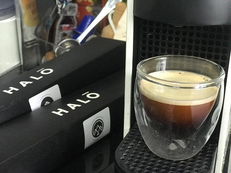 Halo finished coffee