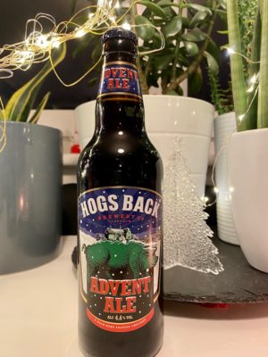 hogsback brewery advent ale bottle
