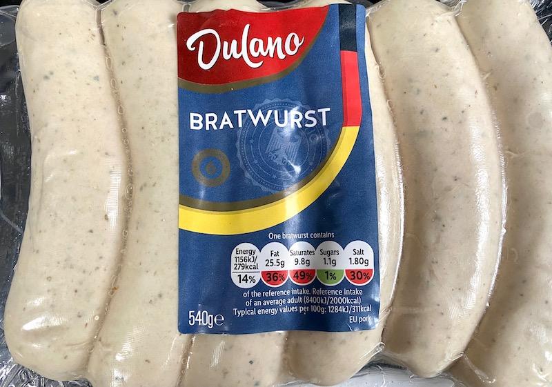 lidl bratwurst