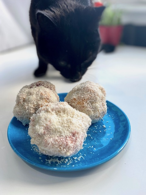 fred sniffing scottish coconut snowballs