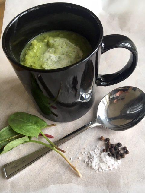 sorrel and pea soup recipe