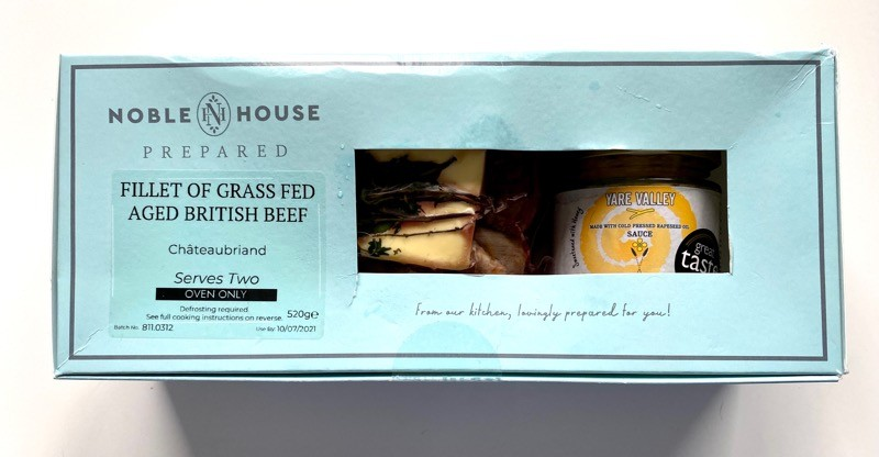 Noble house prepared beef fillet Chateaubriand