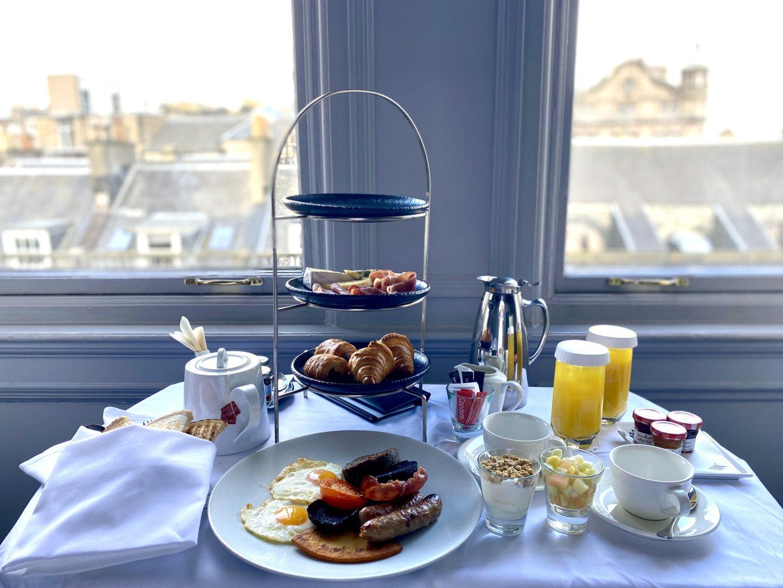 the caledonian Waldorf Astoria Edinburgh breakfast