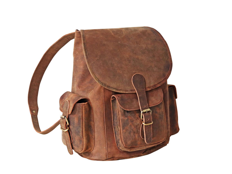 Scaramanga - Large Leather Backpack