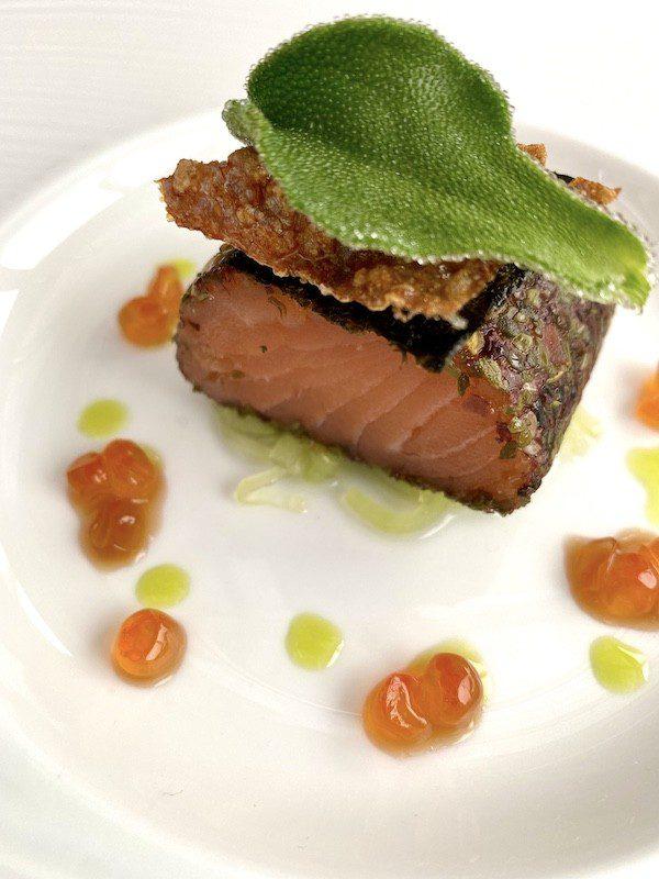isle of eriska hotel salmon starter