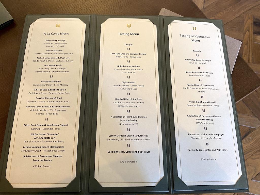 Unalome Glasgow a la carte and tasting menu