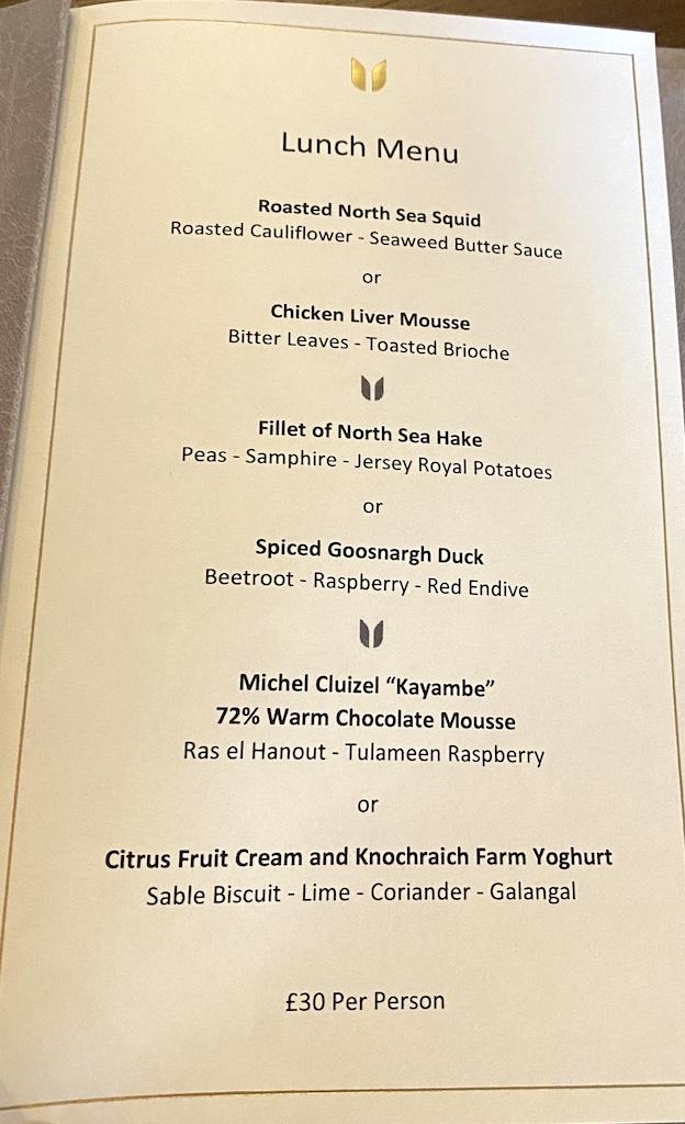 Unalome Glasgow lunch menu