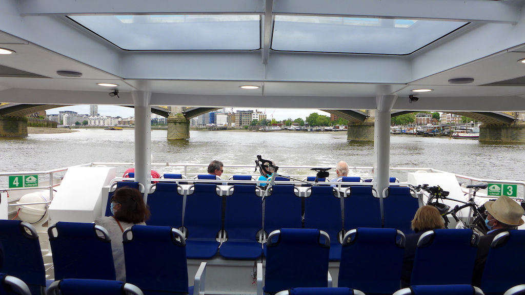 outdoor seating uber boat by thames clippers