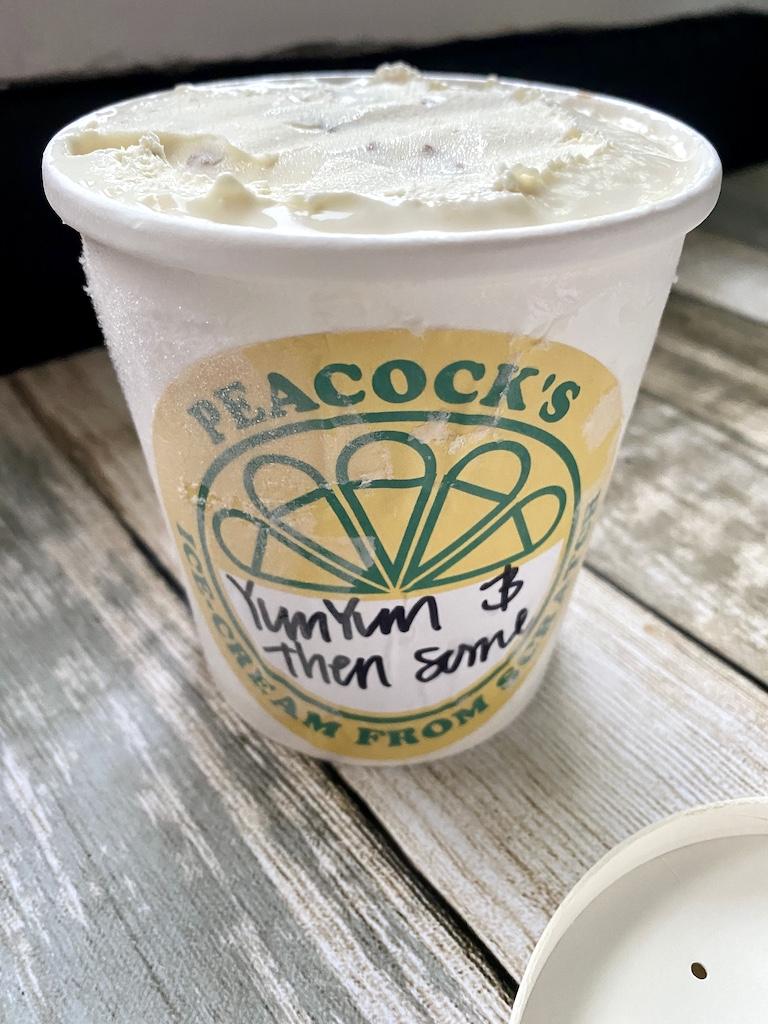 peacocks ice cream yumyum and then some
