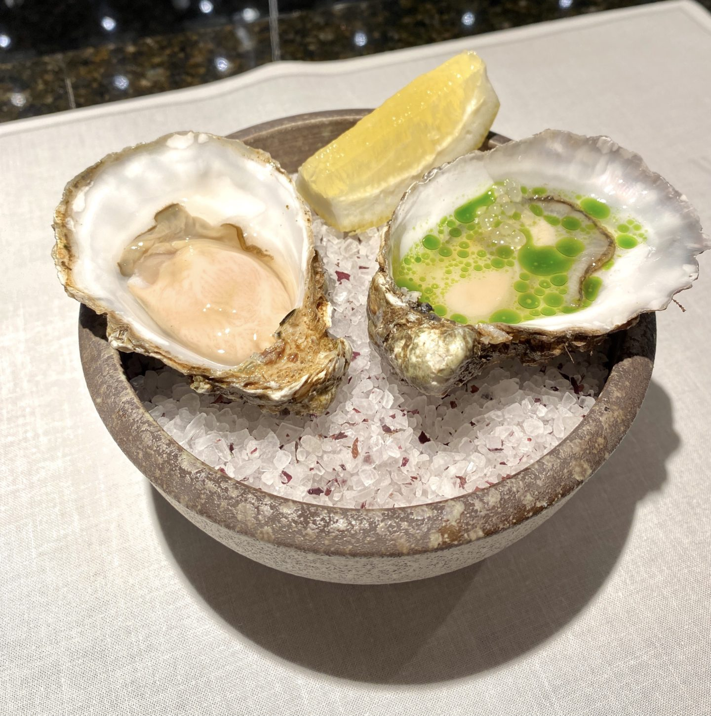 the glenturret lalique oysters