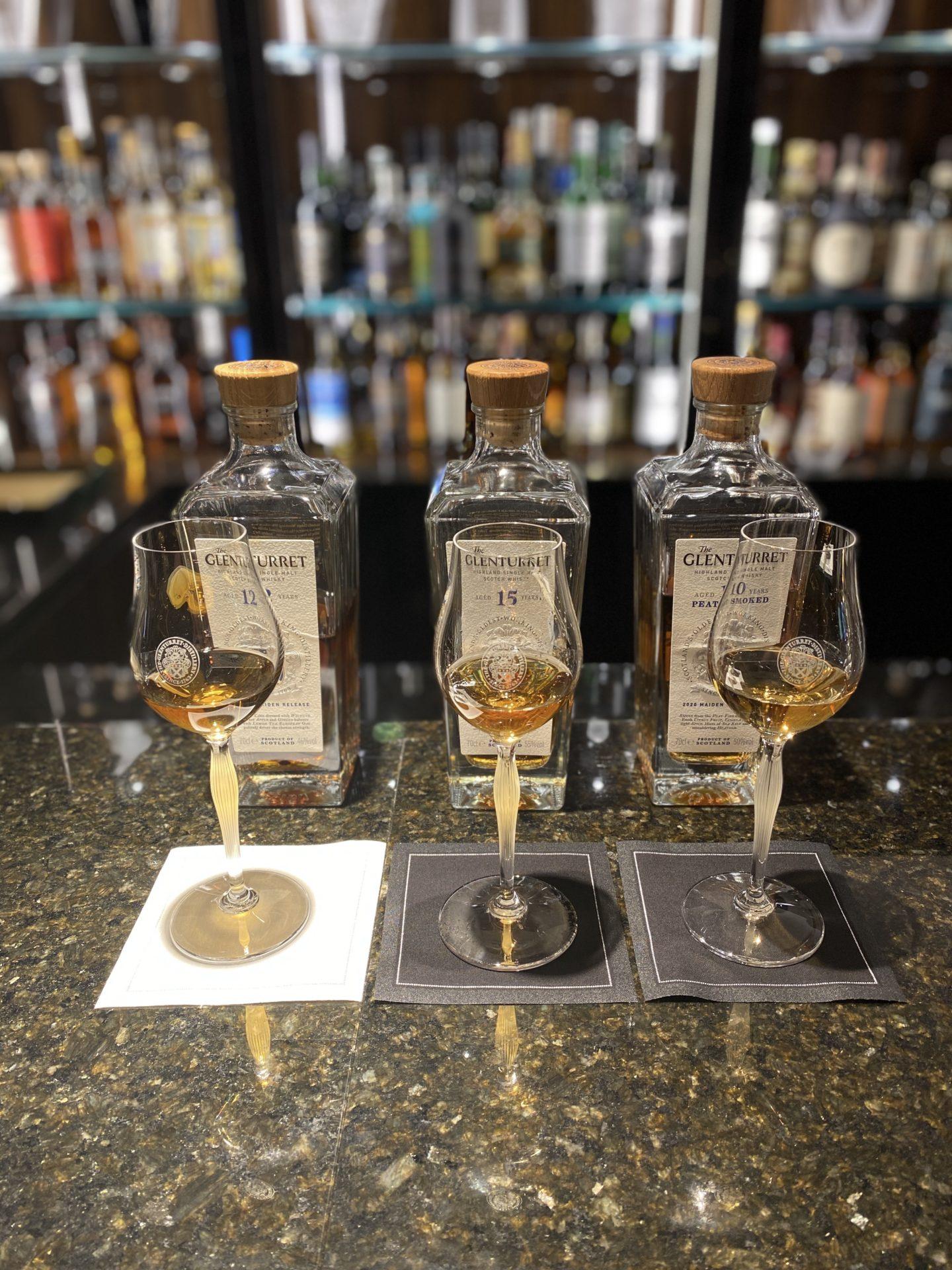 the glenturret whisky flight
