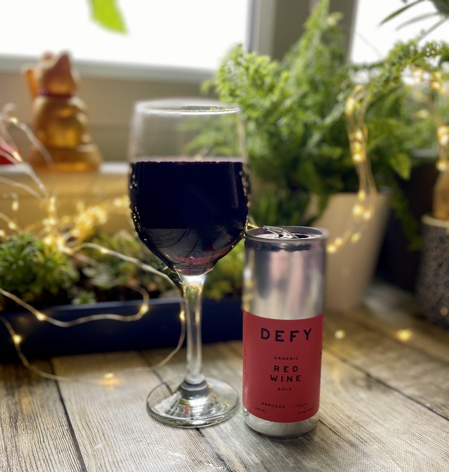 Defy organic wine Can